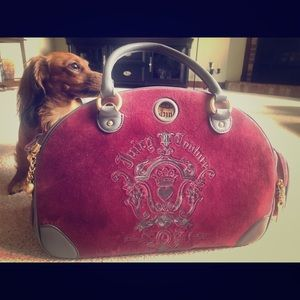 Authentic juicy couture pet carrier